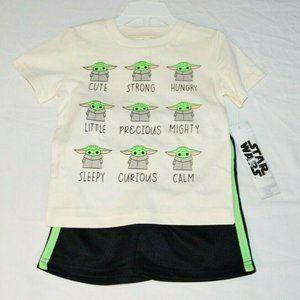 The Mandalorian Baby Yoda Boys T-Shirt and Shorts